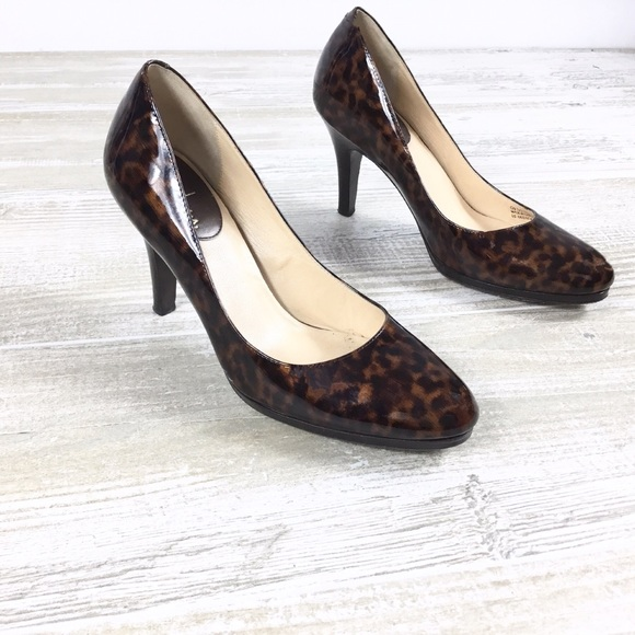 ca0ea3184 Cole Haan Shoes | Nike Air Leopard Patent Leather Heels | Poshmark